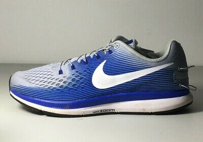 36a968df92367 Mens Nike Air Zoom Pegasus 34 Flyease 904678-004 Grey White Racer Blue Size  9.5