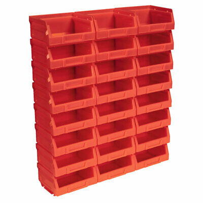 Sealey TPS124R Plastic Storage Bin 103 x 85 x 53mm - Red Pack of 24