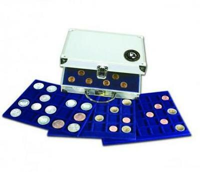 Safe Aluminium Coin Display Case - Holds 214 Coins - 6 Trays