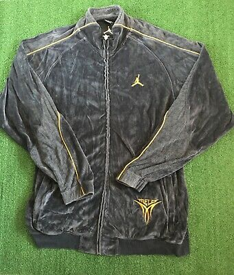 bfa1a3c2ed1 VINTAGE NIKE AIR Jordan Melo Velour Track Suit Jacket Men's Size XL ...