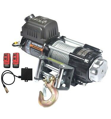 WARRIOR NINJA C2500 12v ELECTRIC WINCH & INC WIRELESS REMOTE