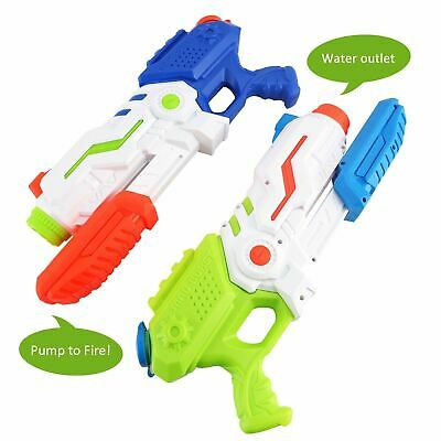Super Water Gun Pump Action Pistol Outdoor Shoot Blaster Squirt Soaker UK