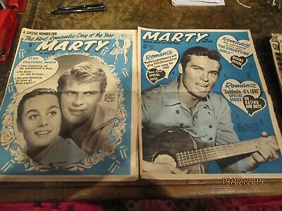 2 x Vintage Marty magazines1961 sixties pop romance weekly