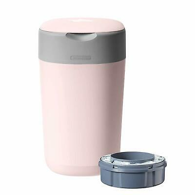 Tommee Tippee Twist and Click Advanced Nappy Disposal Sangenic Bin, Pink