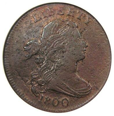 1800 Draped Bust Large Cent 1C  - Certified ANACS XF40 Details - Rare Coin!