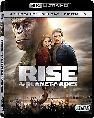 Rise Of The Planet Of The Apes 4k Ultra HD Bluray Movie