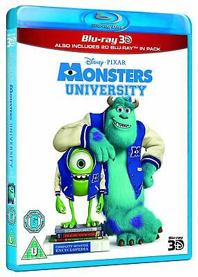 Disney Pixar Monster's University [3D + 2D Blu-ray Region Free Mike Sully] NEW