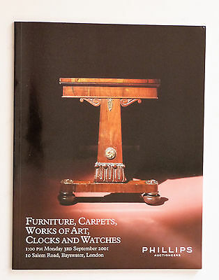 Phillips Auction Catalogue: Clocks & Watches, Works of Art.  3rd September 2001