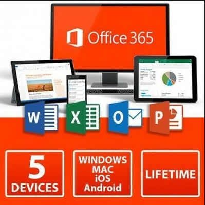 Instant Microsoft Office 365 Lifetime Account✔️ 5 Devices 5Tb Windows✔️ Mac