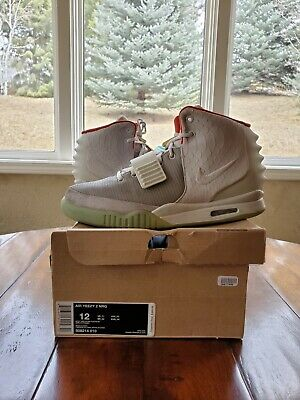 6dd787d637d PLATINUM WOLF GREY Nike Air Yeezy 2 II Size 12 100% Authentic ...
