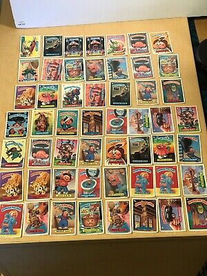 Vintage 1980'S Garbage Pail Kids Trading Card Lot Of 53 Cards