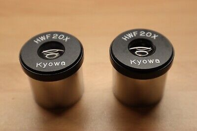 Kyowa  HWF 20x BINOCULAR MICROSCOPE EYEPIECES, 30mm, Pair In Great Condition