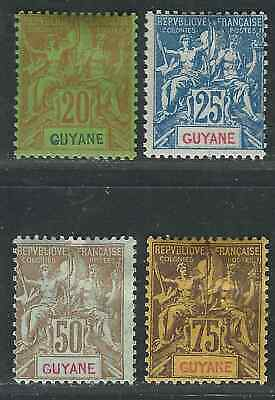 French Guiana Stamps 4 Different  MH F/VF 1892-1900 SCV $111.00