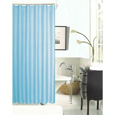 Dainty Home Hotel Collection Waffle 72 in. Aqua Shower Curtain