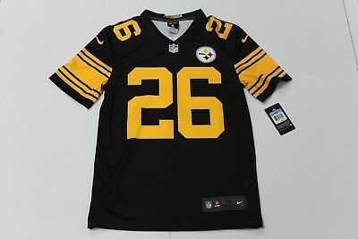 7ccb2dc449c Nike Mens Pittsburgh Steelers Le Veon Bell Color Rush Jersey Black Gold  Medium
