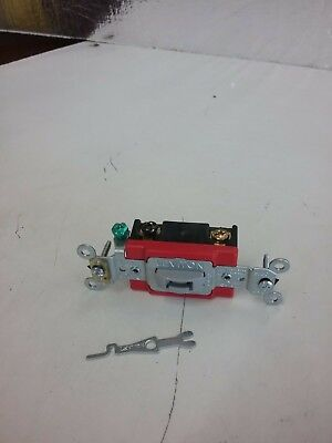 LEVITON RED/GRAY 4-WAY KEY LOCK TOGGLE Switch 20A COMMERCIAL 120/277V TAMPER RES