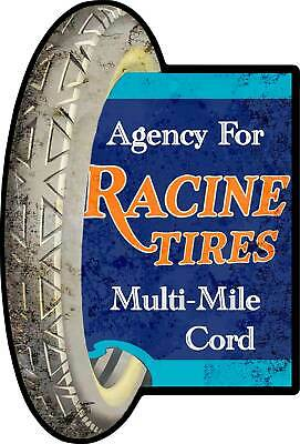 Racine Tires Multi-Mile Cord Automotive Plasma Cut Metal Sign