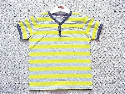 Boys Yellow Stripe T-Shirt From Duck And Dodge At Bhs Ages 2-8 Yrs Bnwot Rrp £18