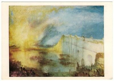Burning of the Houses of Parliament by J M W Turner London UK 8x10 Print 1328
