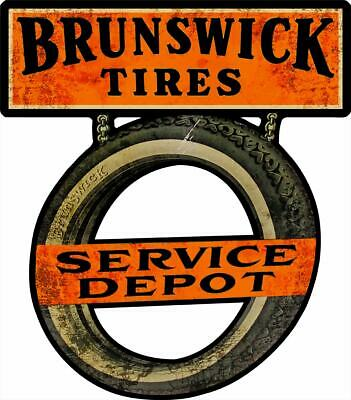 Brunswick Tires Service Depot Plasma Cut Metal Sign