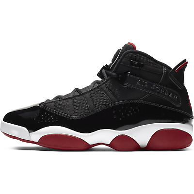 New Men's Air Jordan 6 Rings BRED Shoes (322992-062)  Black / Varsity Red-White