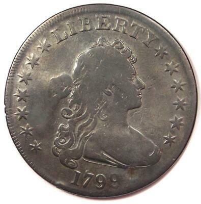 1799 Draped Bust Silver Dollar $1 - Fine Details (Plugged) - Rare Type Coin!