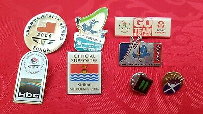 8x 2006 Commonwealth Games Pins/Badges