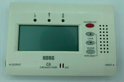 USED Korg Chromatic Tuner CA-40 CA40 Guitar Violin Bass Chromatic - WORKING
