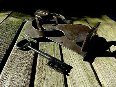 Antique Decorative Lock with Key for Pine/Oak Blanket Box/Chest/Trunk/Treasure D