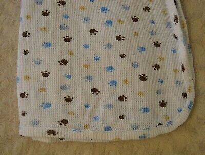 Koala Baby White Thermal Knit Baby Security Blanket Red Blue Stars Waffle Weave