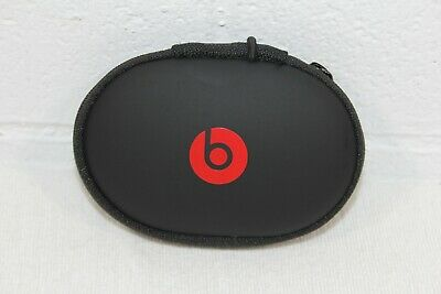 "GENUINE Beats by Dre Ear Buds Headphones Case SMALL Zip Clamshell 4"" x 2.5"""
