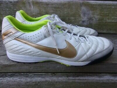 official photos c014c 61ba0 NIKE ~RaRe Gold TIEMPO MYSTIC IV TF 454314-177 Turf SOCCER SHOES~ Men s