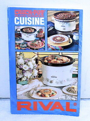 Rival 1995 Slow Cooker Crock-Pot Cuisine Cook Book ~ Soft Cover ~ 224 Pages