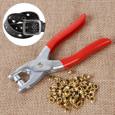 Grommet Rivets Eyelet Setting Plier Hole Hand Punch Leather Belt Watch Band Tool