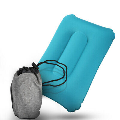 Inflatable Air Pillow Bed Sleep Cushion Travel Car Hiking Camping Head Neck Rest