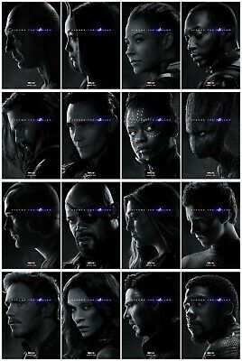 """Avengers Endgame 2019 Film ALL Marvel Role Playing Movie Art Poster 40x27 48x32"""""""