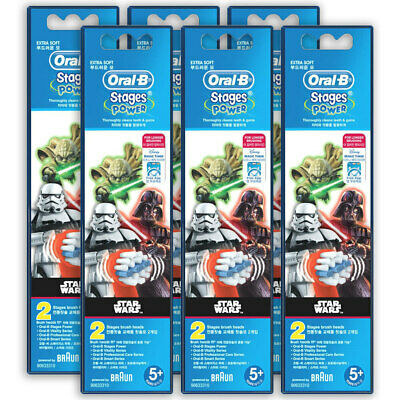 12x Oral-B Stages Power Replacement Heads f/ Kids Electric Toothbrush Star Wars