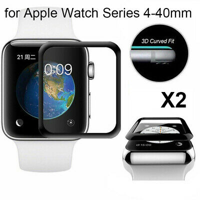 2x 3D TEMPERED GLASS Screen Protective Film For IWatch Apple Watch 40mm Series 4