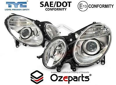 Pair LH+RH Head Light Non Xenon For Mercedes Benz E Class W211 Ser 1 2006~2009
