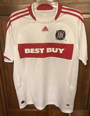 competitive price 59a1c 212c6 ADIDAS CHICAGO FIRE Jersey Boys XL Best Buy Blanco Era MLS White Vintage  Rare