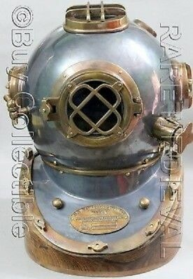 18'' Vintage Nautical Scuba Mark V Diving Helmet Fully Wearable Divers Replica