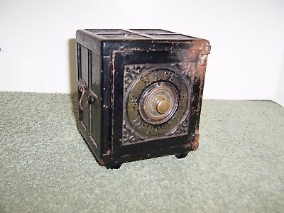 Antique Henry C Hart SAFE DEPOSIT Coin Bank Pat 1885 Cast Iron