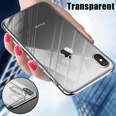 Crystal Clear Case Shockproof Transparent Hard Cover For iPhone XS Max XR 8 6 7+