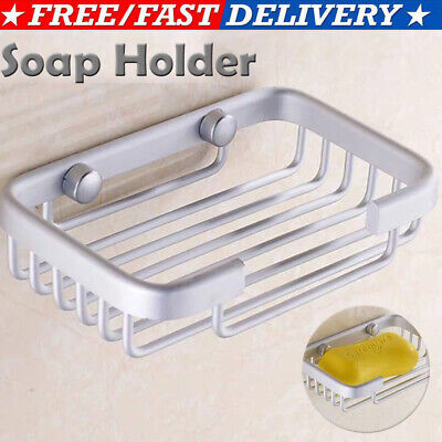 Bathroom Shower Soap Shampoo Holder Aluminum Space Bath Soap Dish