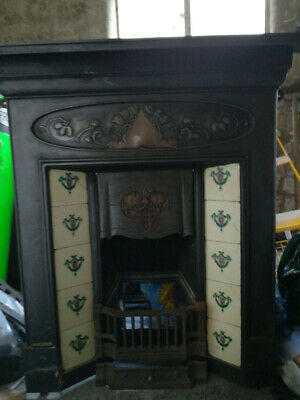 Edwardian/Victorian Cast Iron Fireplace with Real Flame Coal effect Gas Fire