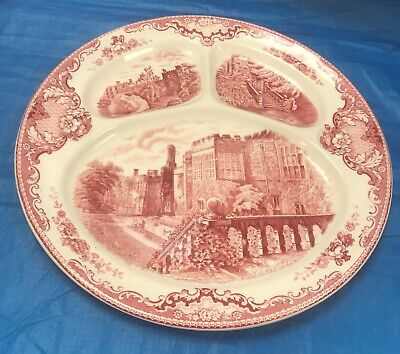 "Johnson Bros ""Old Britain Castles"" Pink/Red Grille (Sectioned) Plate 11"" *Sale*"
