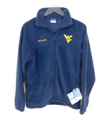0ad0c91c69a9ea Columbia West Virginia Mountaineers University Fleece Jacket Mens Small NWT