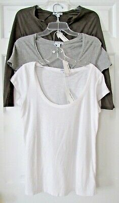 73013cdc5 James PERSE Short Sleeve Tee T Shirt Womens Size 0 1 3 New For Spring FREE