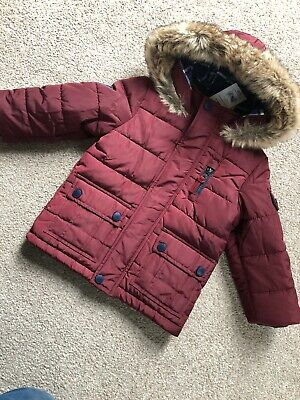 Mothercare Authentic Apparel Burgundy Parka Puffa Coat 12-18 Months