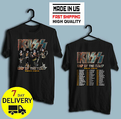 Official KISS Band T-Shirt End of the Road Farewell Tour 2019 Gift for Men-Women